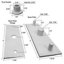 Shower Door Pivot Shower Door Pivot Base Plate Base Plate Wedge And Pivot Socket