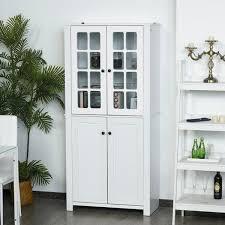 homcom kitchen pantry cupboard wooden storage cabinet organizer shelf white homcom contemporary kitchen pantry freestanding storage