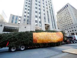 rockefeller christmas tree arrives in manhattan for 2017 holidays