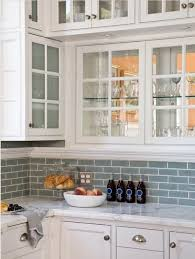 kitchen backsplash ideas with white cabinets houzz white cabinets with frosted glass blue subway tile