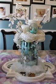 Homemade Table Centerpieces by Homemade Frozen Birthday Decorations Image Inspiration Of Cake