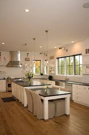 kitchen island with table interior design