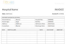 medical invoice template word dotxes