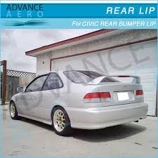 2000 honda civic spoiler for 1999 2000 honda civic 2 4dr pu type r style rear bumper lip