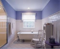 bathroom exciting striped walls with cozy clawfoot tub and cozy