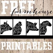 free printable saturday farmhouse animal prints u2014 the mountain