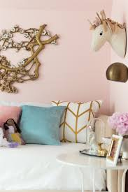 pretty in pink girls room reveal the home i create the wall color is angelic by sherwin williams and it the perfect soft glowy pink color for a girls room