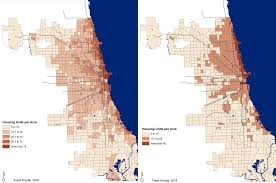 Chicago Lakeview Map by Mapping The Most Densely Populated Neighborhoods In Chicago