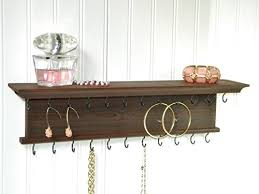 necklace organizer images Wall mounted modern rustic wood chestnut jewelry organizer jpg