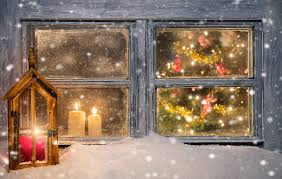 atmospheric christmas window sill decoration pictures images and