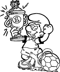 smurf coloring pages soccer player sport smurf coloring page wecoloringpage