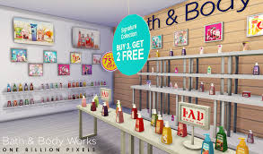 my sims 4 blog 04 05 15 bath body works shop set v2 sellable and compatible items with base game gtw shelves by newone