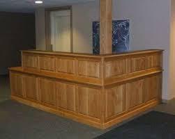 Oak Reception Desk Furniture U0026 Built In Projects Of Creative Carpentry Inc