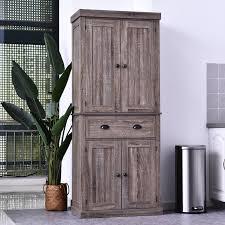 homcom kitchen pantry cupboard wooden storage cabinet organizer shelf white overstock shopping bedding furniture