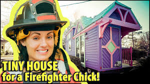 colorful victorian tiny house for a female firefighter youtube