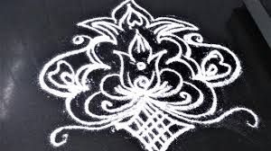 easy rangoli design making pooja room margali special rangoli