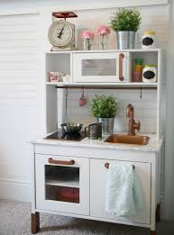 ikea duktig play kitchen hack i spray painted the kitchen white