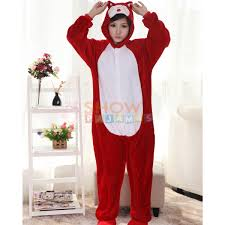 Outlet Halloween Costumes Kigurumi Retail Outlet Red Fox Hans Pajamas Animal Onesies Costume