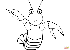 cartoon lobster coloring page free printable coloring pages