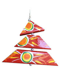 red tree ornament by simon of new orleans fleurty
