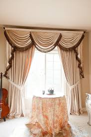 Curtains Valances Pearl Dahlia Designer Valance Curtains With Swags And