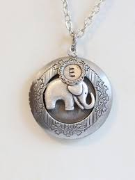 Personalized Photo Locket Necklace Best Of Friends Jewelry Gift Baby Elephant Locket Necklace