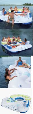 lake toys for adults inflatables 87090 floating island raft water toys for lake pool