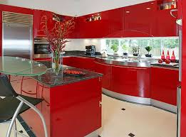 Kitchen Cabinets Ideas  Red Gloss Kitchen Cabinets Inspiring - Red lacquer kitchen cabinets