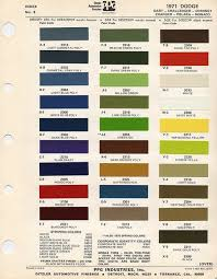 paint codes for the 971 dodge 1971 dodge charger pinterest
