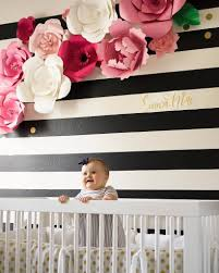 wallsneedlove news and ideas bold black easy stripe wall decals by wallsneedlove and paper flowers by bloom box