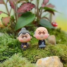 aliexpress com buy old granny fairy garden gnome animals moss