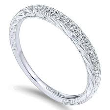 engrave wedding ring 14k white gold 1 10cttw bead set diamond wedding band with