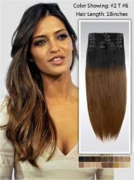 vpfashion ombre hair extensions two tone ombre clip on hair extensions uss161 vpfashion
