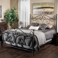 haven king size scroll design iron bed in dark bronze bed frames