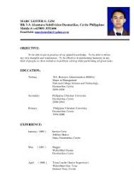 Standard Job Resume by Examples Of Resumes Standard Format Resume In Canada Canadian Cv