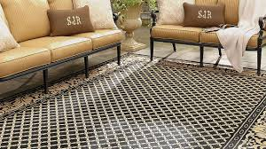 Patio Outdoor Rugs by Decorating Elegant Wicker Patio Furniture With Cushions And