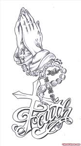 praying hands rosary and faith tattoo design tattoo viewer com