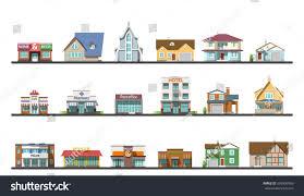 flat design urban landscape illustration private stock vector