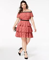 chic clothing city chic trendy plus size the shoulder tiered dress dresses
