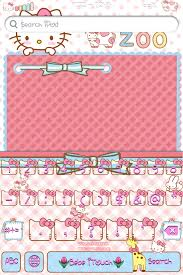 themes color keyboard hello kitty zoo color keyboard theme cute bebe kitty