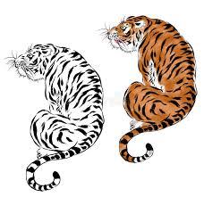 japanese tiger stock illustration illustration of 42379645