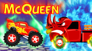 monster truck cartoon videos lightning mcqueen cartoons vs scary pickup trucks for kids scary
