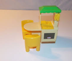 Little Tikes My Size Barbie Dollhouse by Vintage Little Tikes Tykes Dollhouse Kitchen Island Two Yellow