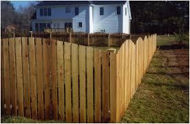 backyards compact white dog ear fence design 144 home depot
