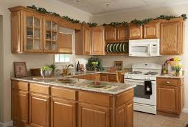 maple cabinet remodel with beige wall color for simple kitchen