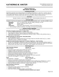 Sample Engineering Resumes by Software Engineer Resume Examples Free Resume Example And