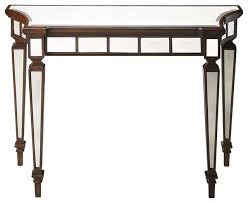 Mahogany Console Table Butler Garbo Mirror And Mahogany Console Table Traditional