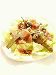comment cuisiner les artichauts violets salade d artichaut violet au jambon cru 120 cook