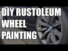 diy wheel refinishing with rustoleum graphite wheel paint youtube