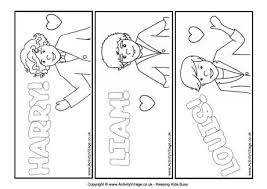 one direction colouring bookmarks 2